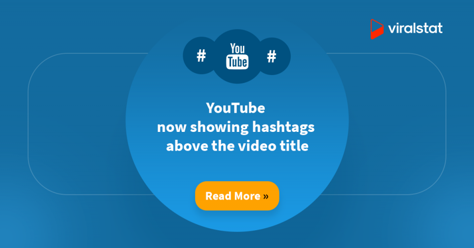 YouTube now showing hashtags above the video title